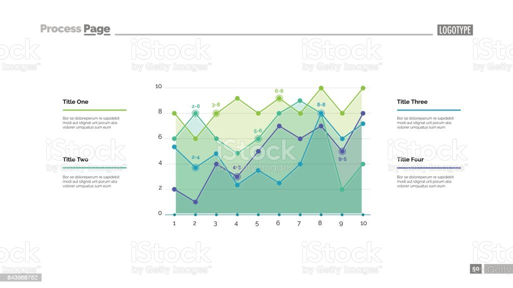 detailed line graph slide template stock vector art more images of