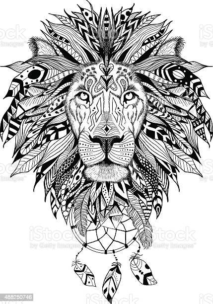 Detailed lion in aztec style vector id488250746?b=1&k=6&m=488250746&s=612x612&h=od1xutv zpu3961c2zkylanfpauj5vss5zfcervztyi=