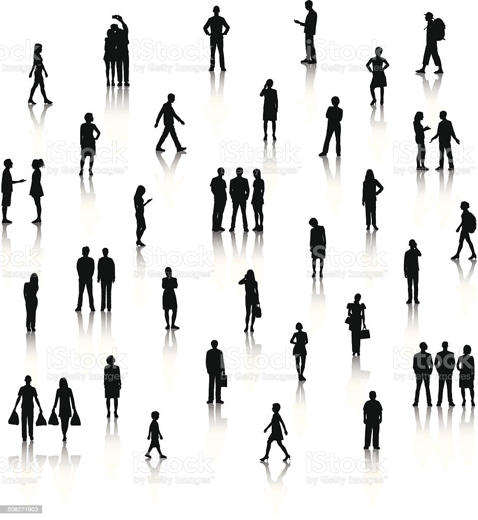 Detailed Little People Each person is highly detailed. Above stock vector