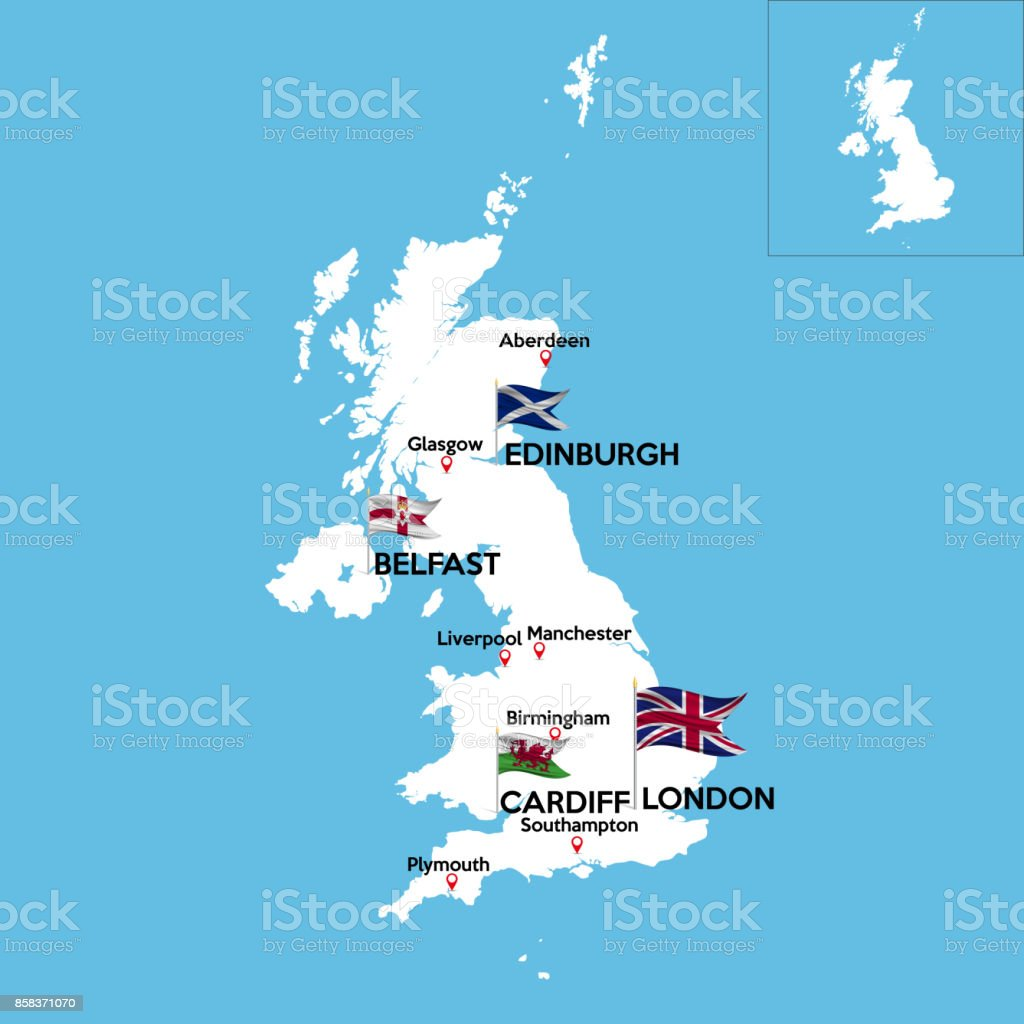 Detailed Map Of Ireland Vector.A Detailed Map Of Great Britain Stock Vector Art More Images Of