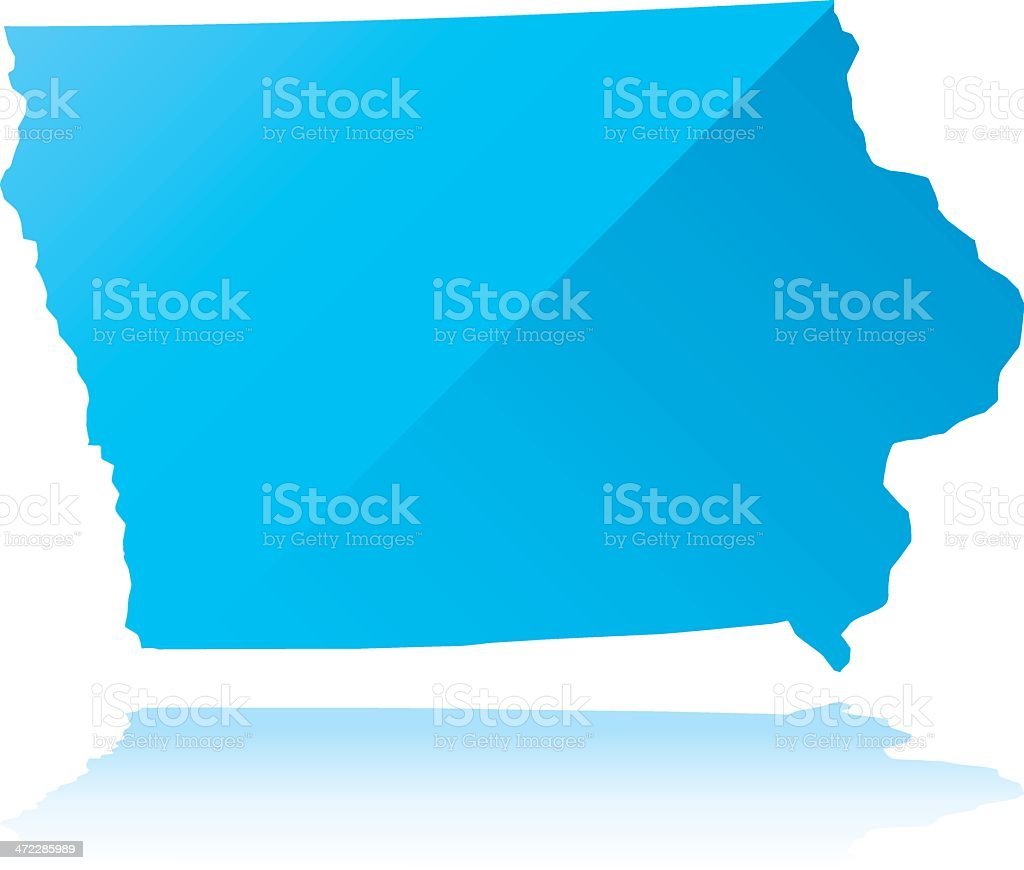 Detailed map of Iowa state royalty-free detailed map of iowa state stock vector art & more images of blue