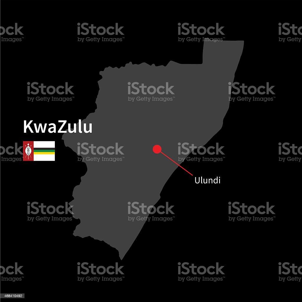 詳細マップのクワズールーと首都...