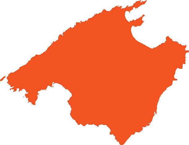 Mallorca Karte Umriss.Insel Mallorca Stock Vektoren Und Grafiken Istock