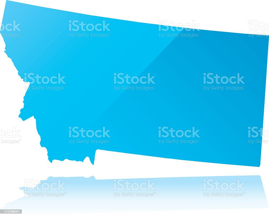 Detailed map of Montana state royalty-free stock vector art