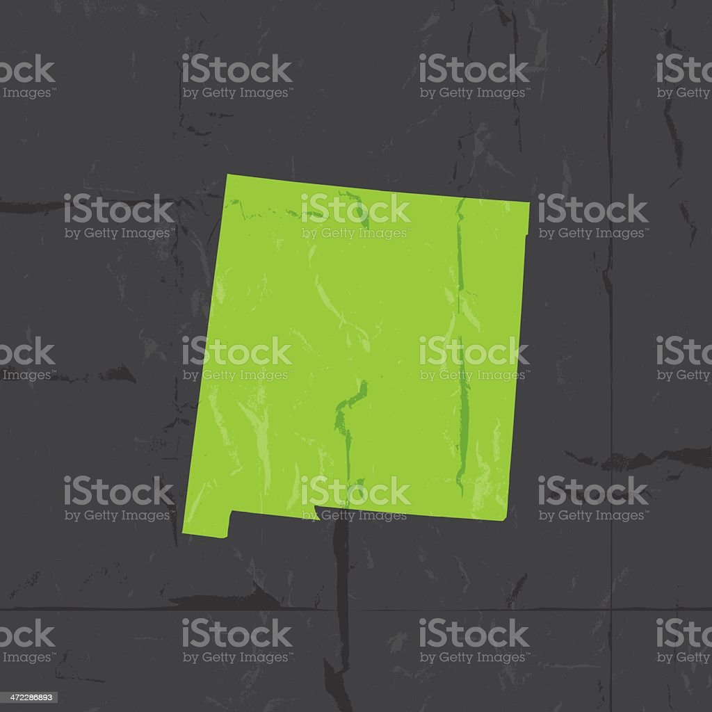 Detailed Map Of New Mexico State Grunge Style Stock Vector Art - Detailed map of new mexico