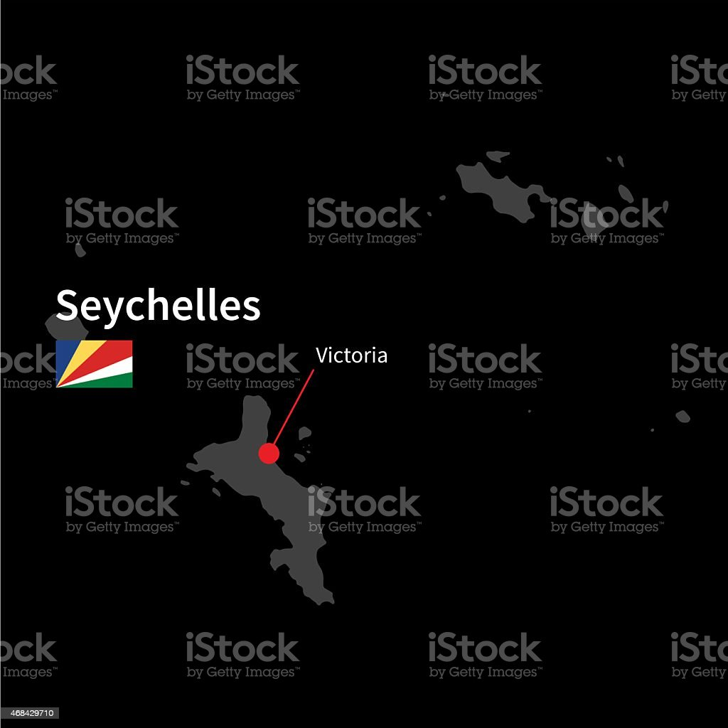 Detailed Map Of Seychelles And Capital City Victoria With