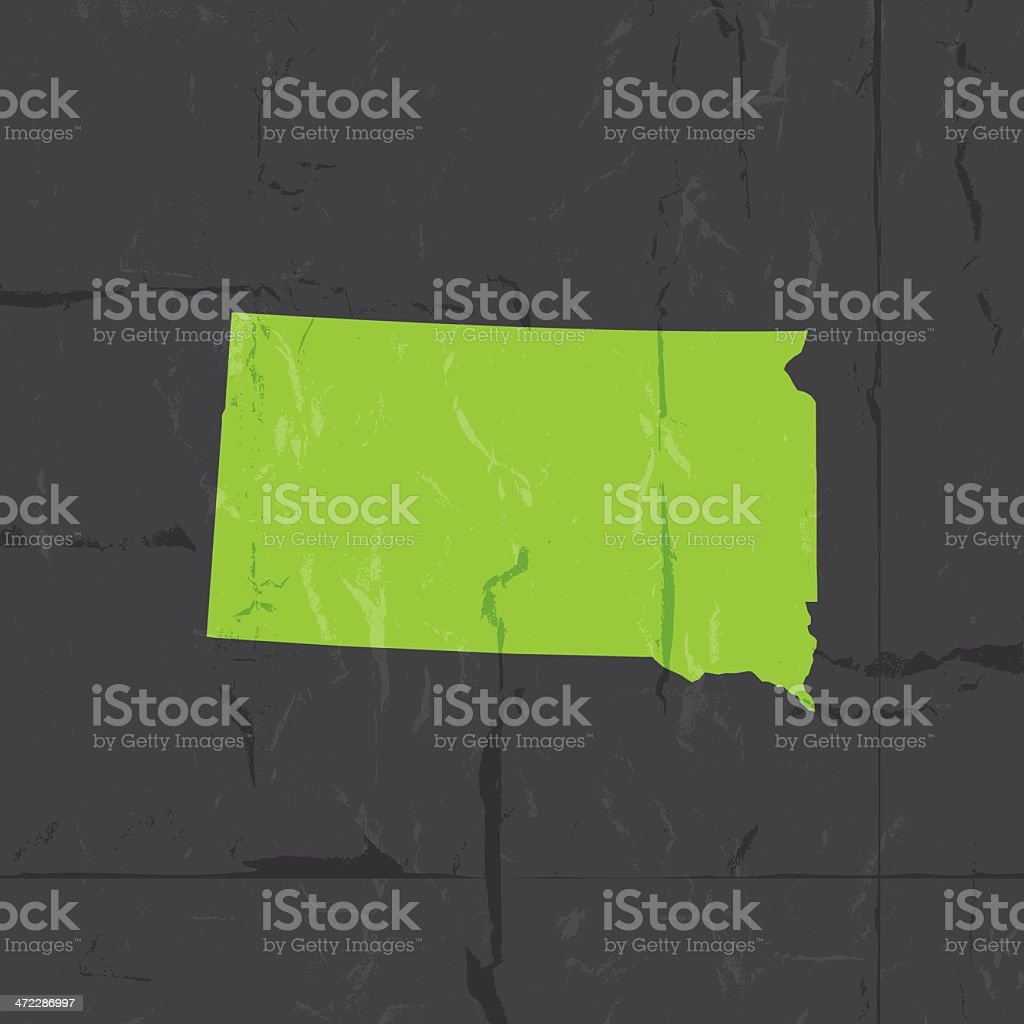 Detailed map of South Dakota state grunge style royalty-free detailed map of south dakota state grunge style stock vector art & more images of cartography