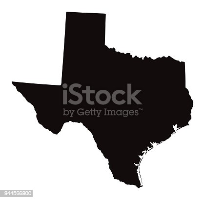 istock Detailed Map of Texas State 944566900