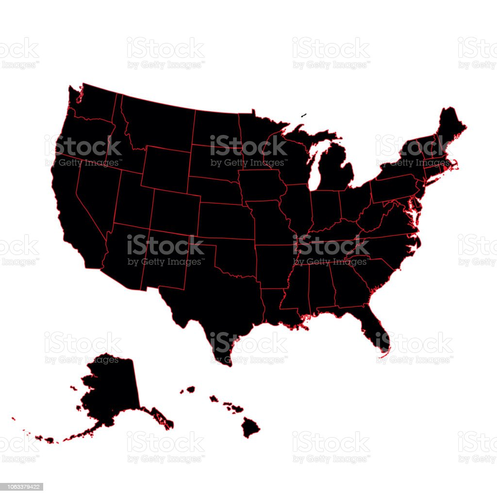 Detailed Map Of The American Continent And The Usa Including Alaska ...