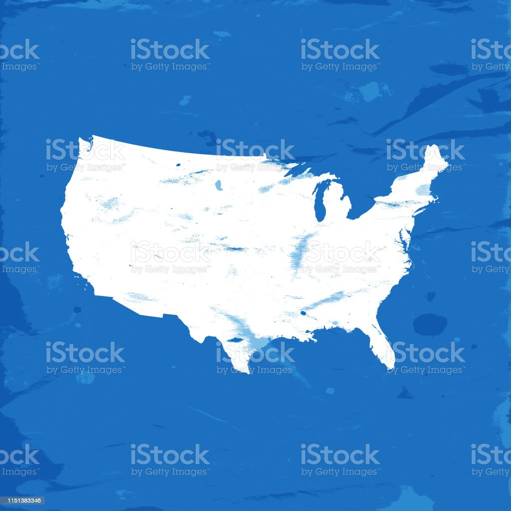 Detailed Map Of The United States Of America Stock ...