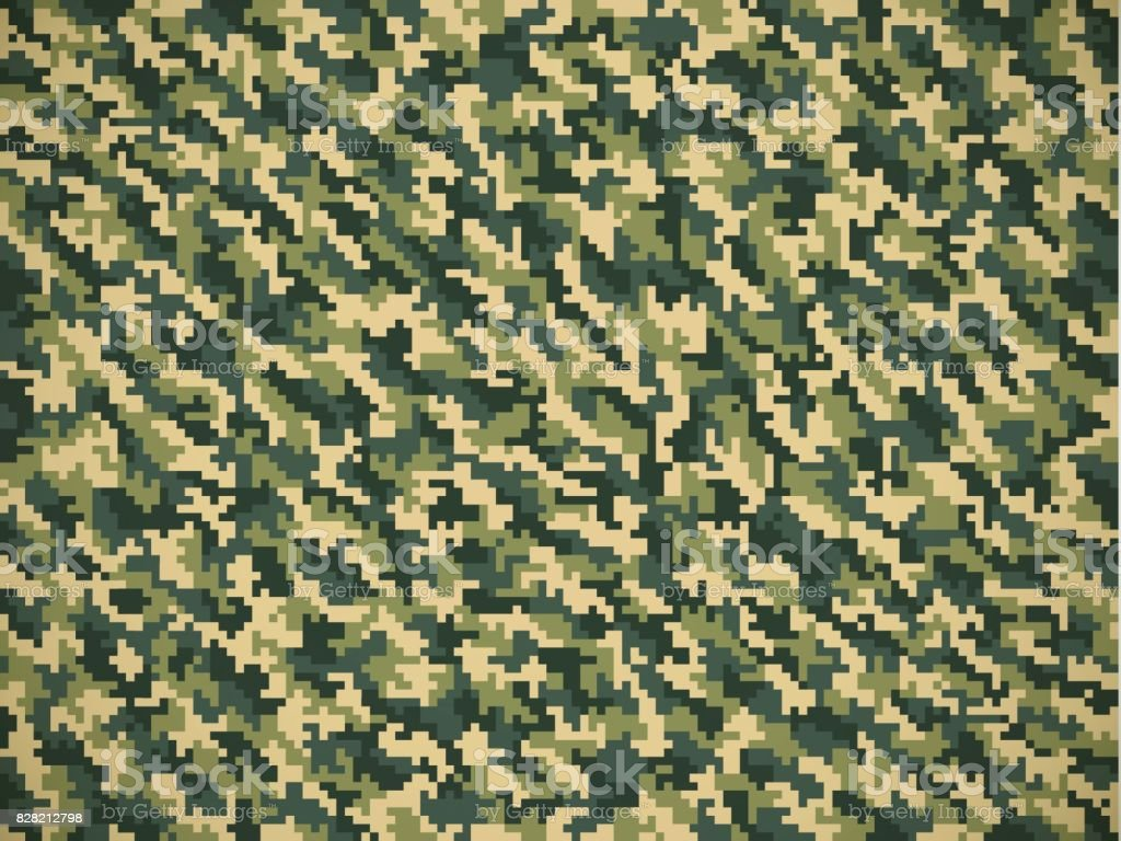 Detailed Military Camouflage Pattern