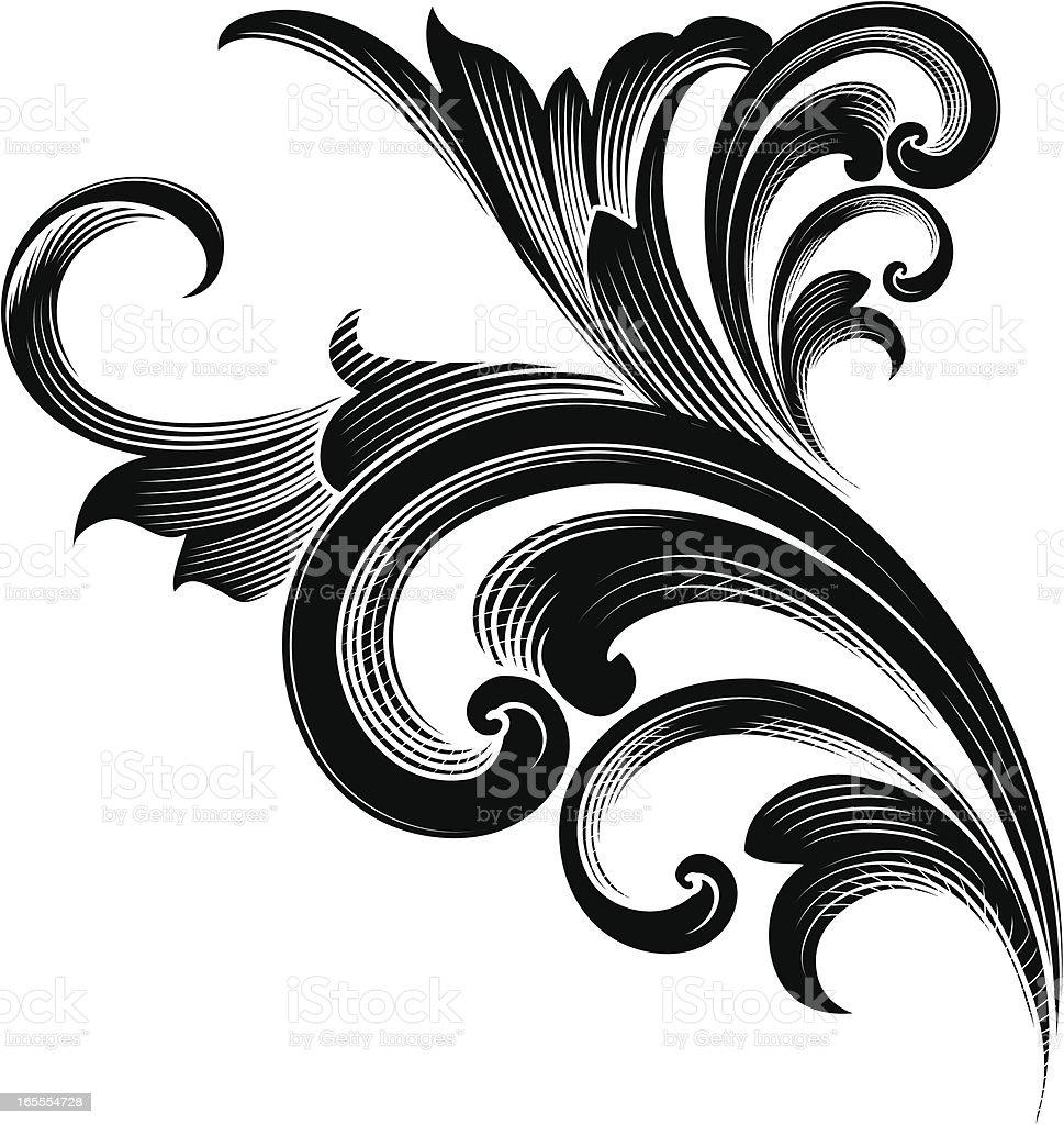 Detailed Ornament vector art illustration