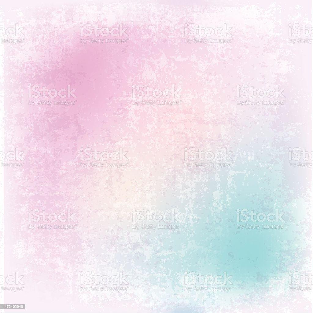 Detailed pastel grunge background vector art illustration
