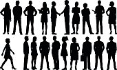 Detailed People Silhouettes