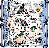 pirate/treasure map