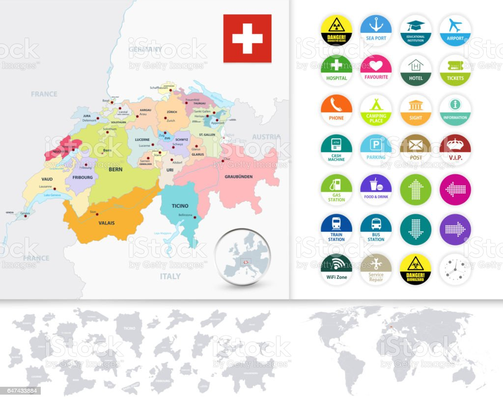 Political Map Of Switzerland