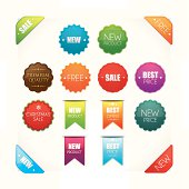 Detailed promotional badges