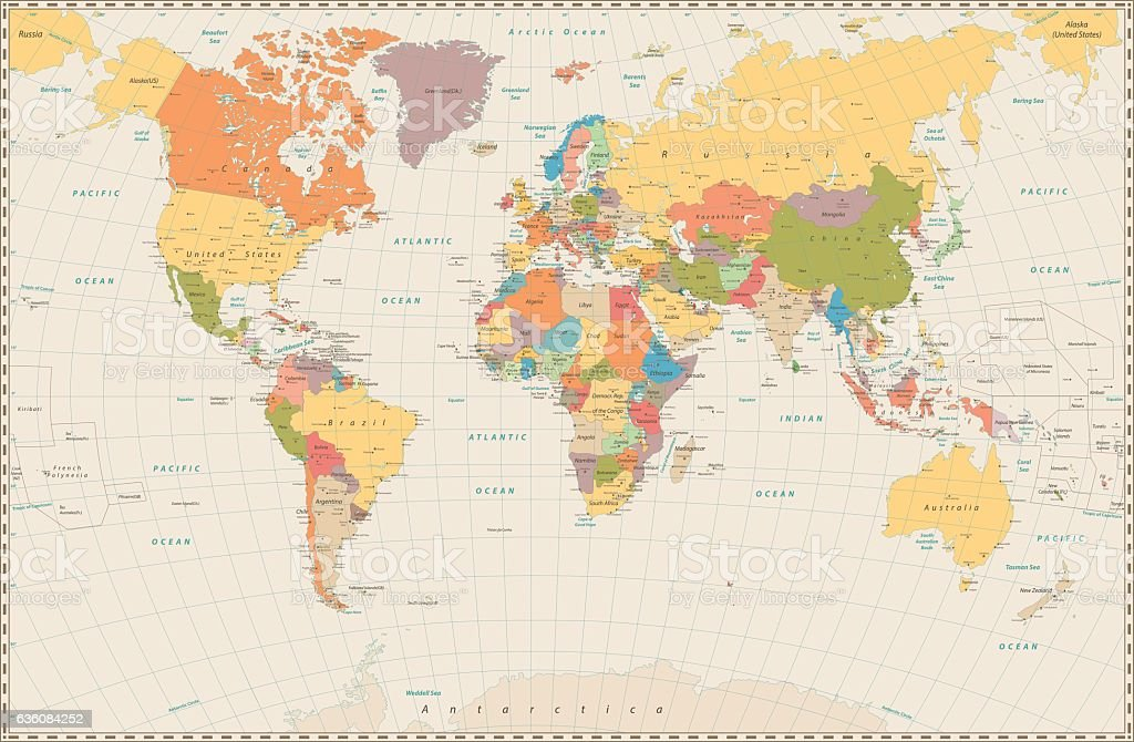 Detailed World Maps on