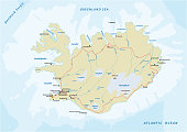 istock detailed road map of republic of iceland 860373160