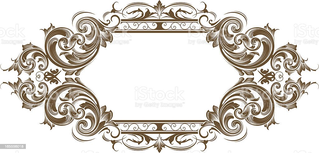 detailed scroll banner stock vector art more images of antique
