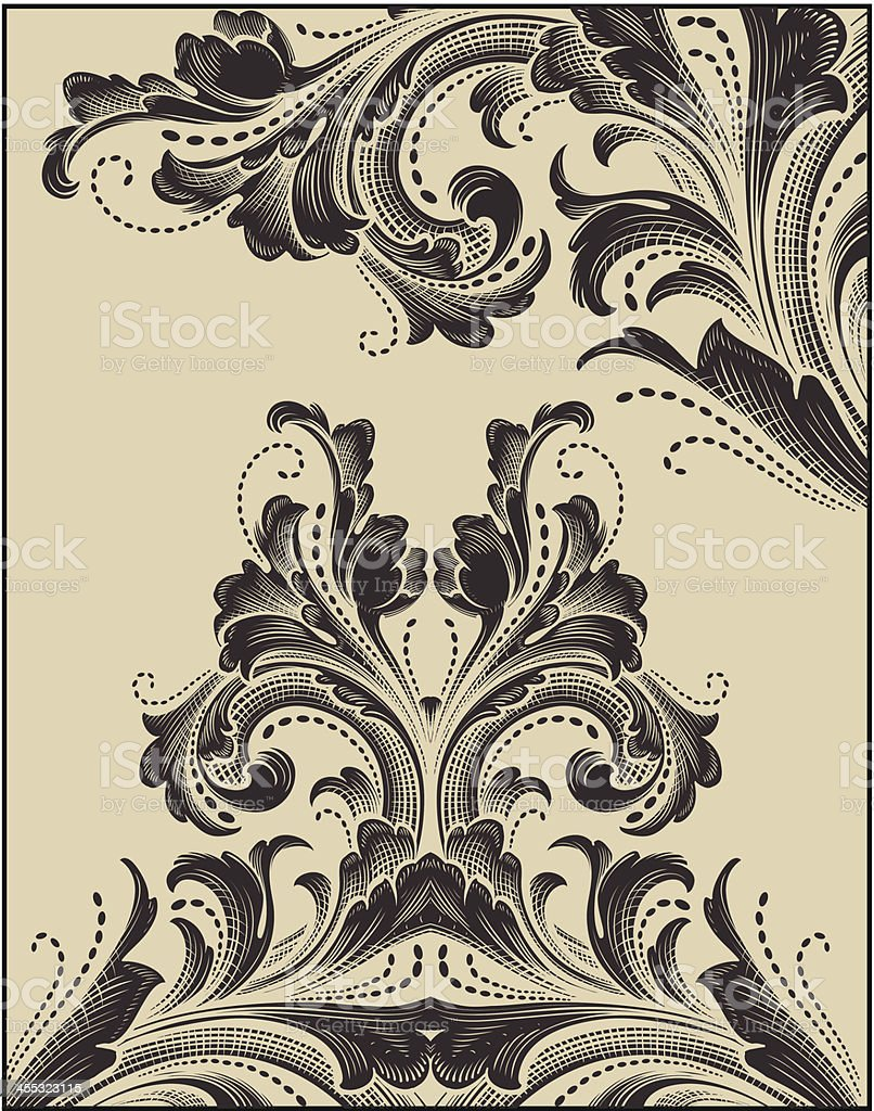 Detailed Scrollwork Ornaments royalty-free stock vector art