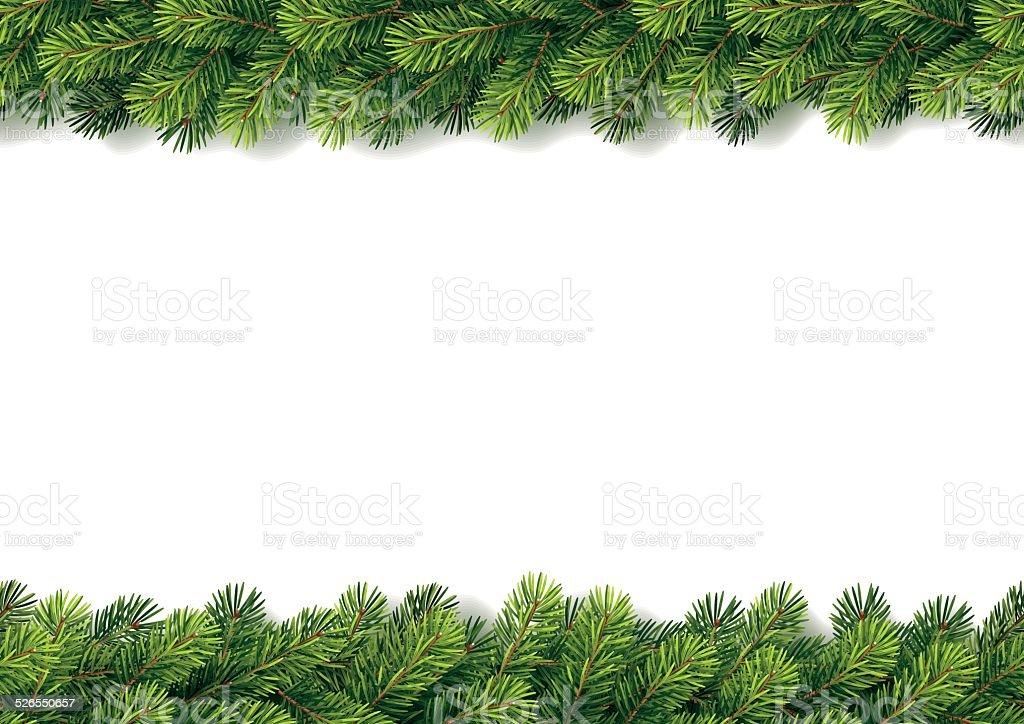 Detaillierte nahtlose Christmas Garland – Vektorgrafik