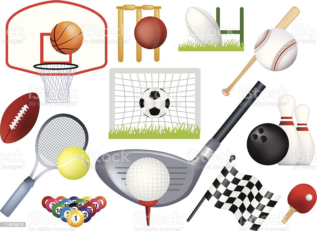 detailed sports montage royalty-free detailed sports montage stock vector art & more images of american culture