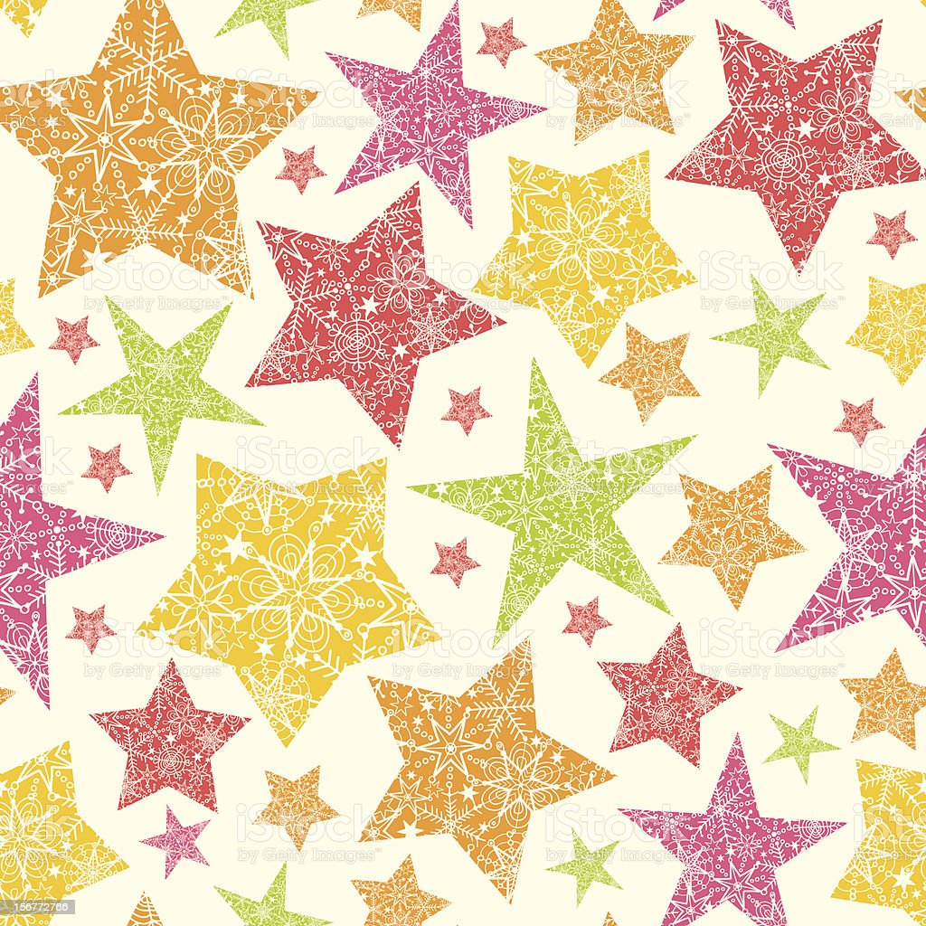 Detailed Stars Silhouettes Seamless Pattern Background royalty-free stock vector art