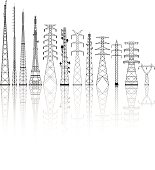 Free download of Electricity Pylon vector graphics and