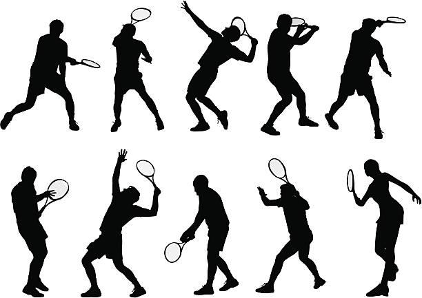 テニスプレーヤー付き - テニス点のイラスト素材/クリップアート素材/マンガ素材/アイコン素材