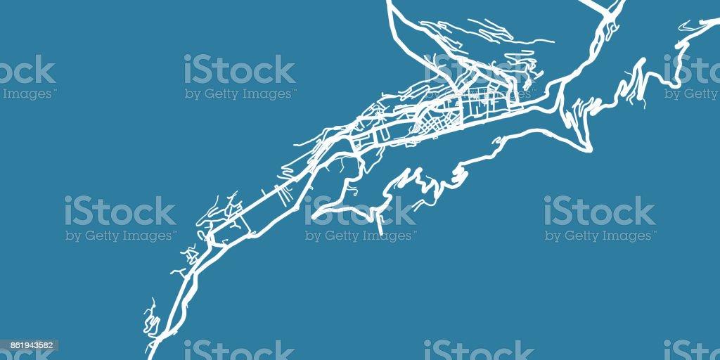 Detailed vector map of Andorra la Vella, scale 1:30 000, Andorra vector art illustration