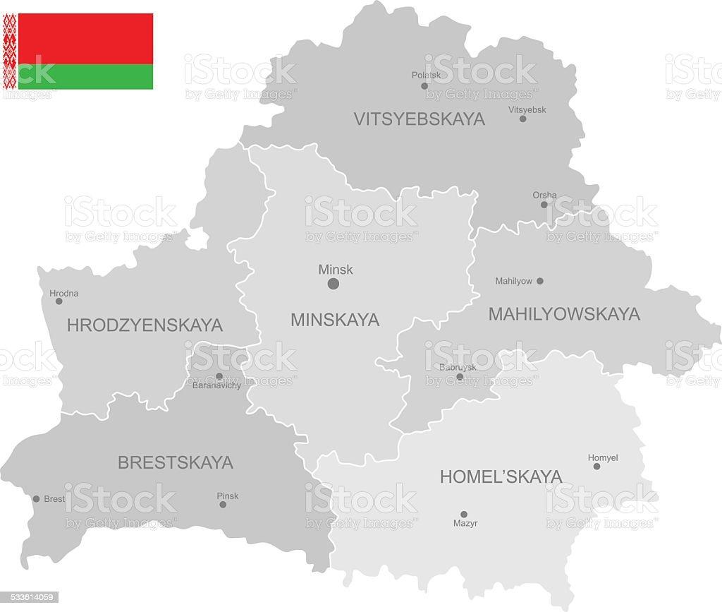Detailed Vector Map of Belarus