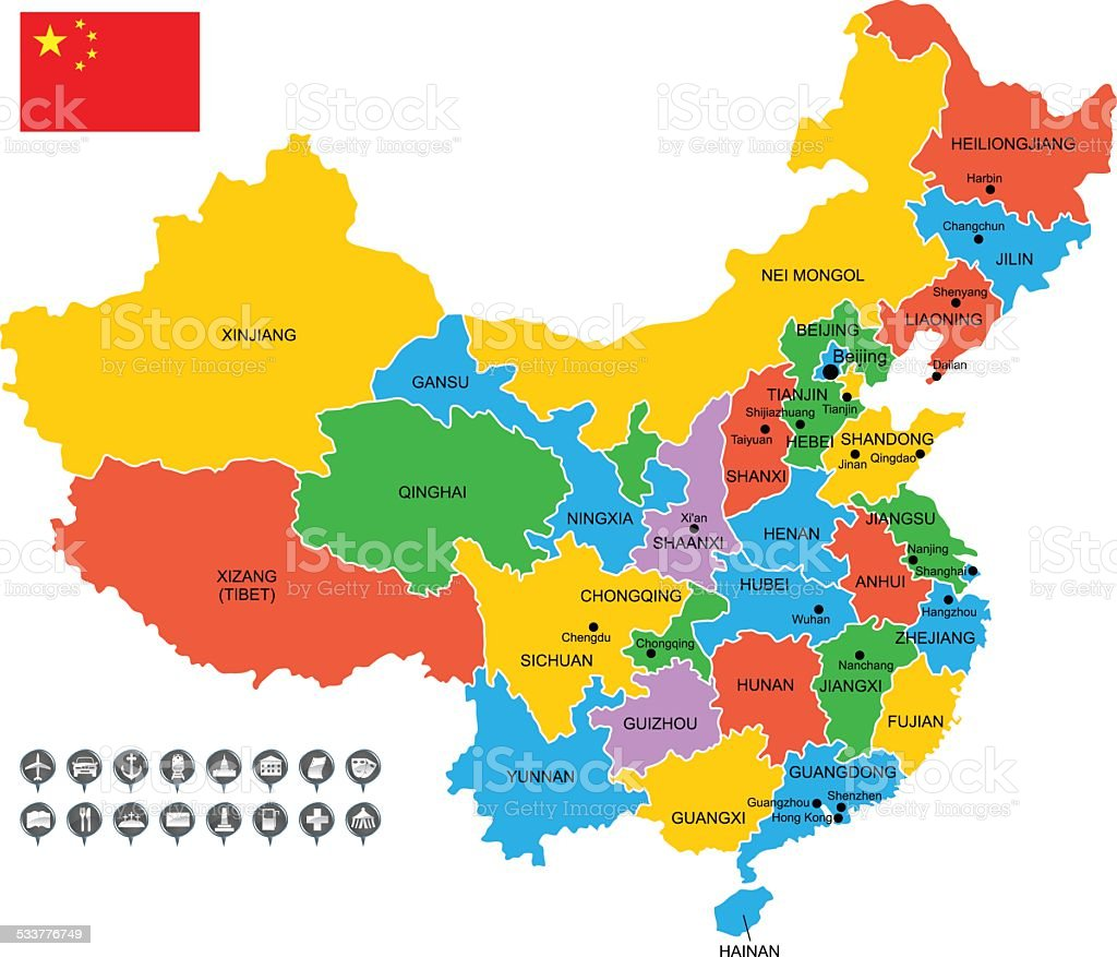 Detailed Vector Map Of China Royalty Free Detailed Vector Map Of China  Stock Vector Art
