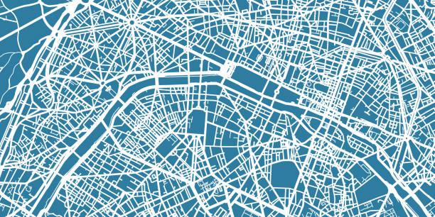 bildbanksillustrationer, clip art samt tecknat material och ikoner med detaljerade vektor karta över paris, skala 1:30 000, frankrike - paris