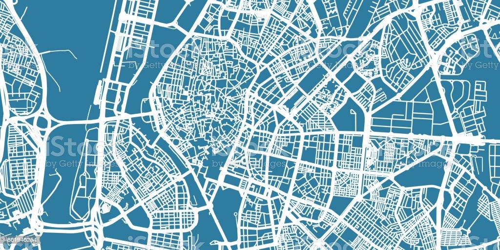 Detailed Vector Map Of Sevilla Scale 130 000 Spain Stock Vector Art ...