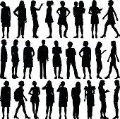 Detailed Women Silhouettes