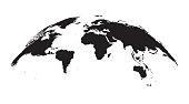 Detailed world Map Globe