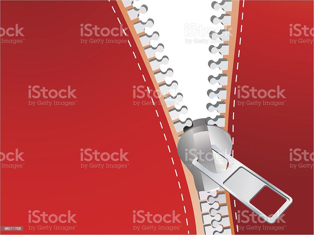Detailed zipper royalty-free stock vector art