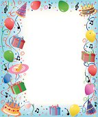 illustration of decoration with balloon for your design and product.