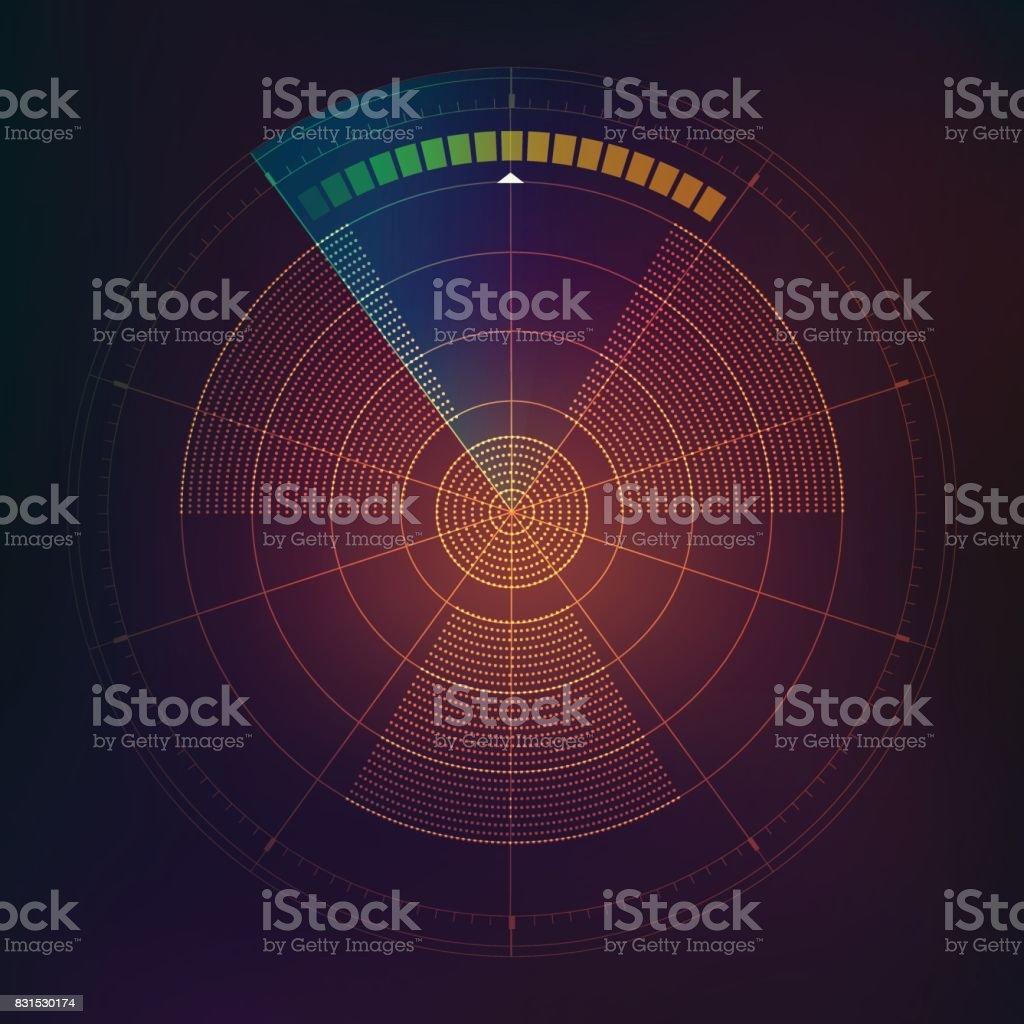 detection vector art illustration