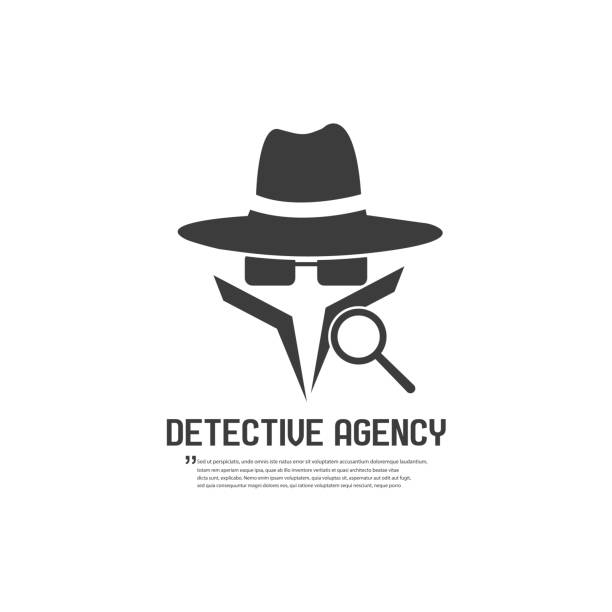Detective agency badge. Vector illustration Detective agency badge. Vector illustration detective stock illustrations