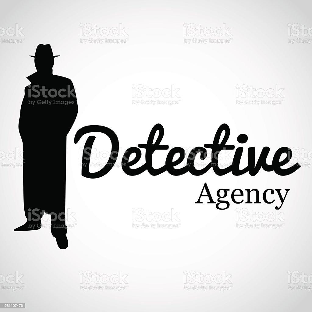 Detective Agency. vector art illustration