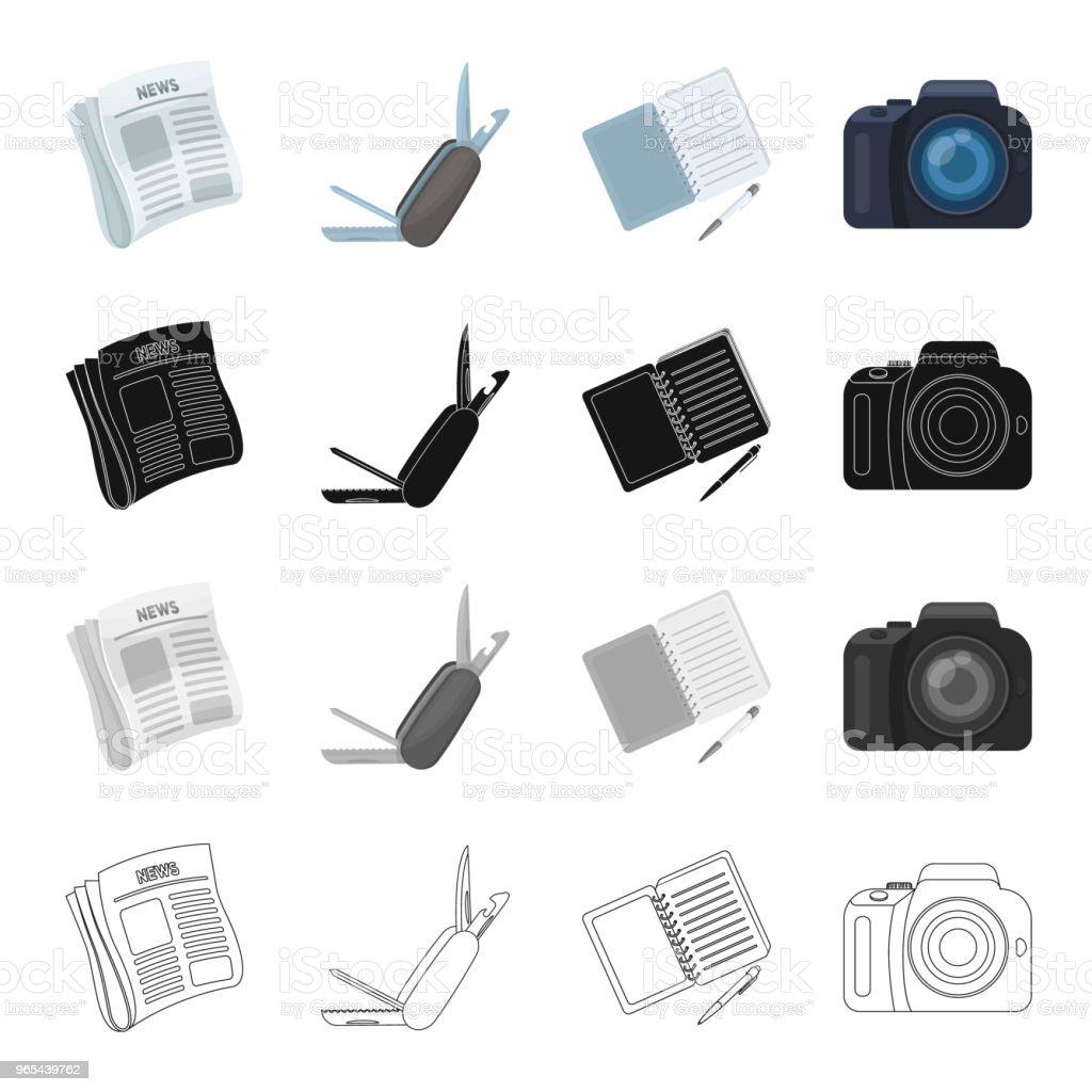 Detetive e atributos dos desenhos animados ícones monocromáticos de contorno preto na coleção definida para o projeto. Ilustração de estoque web símbolo vetorial agência de detetive. - Vetor de Acessório royalty-free