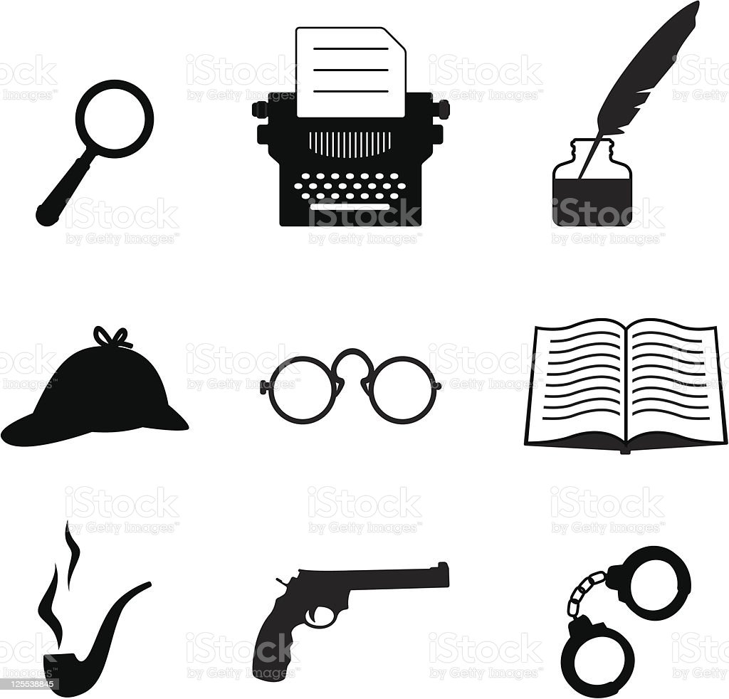 Detective icon set royalty-free detective icon set stock vector art & more images of book