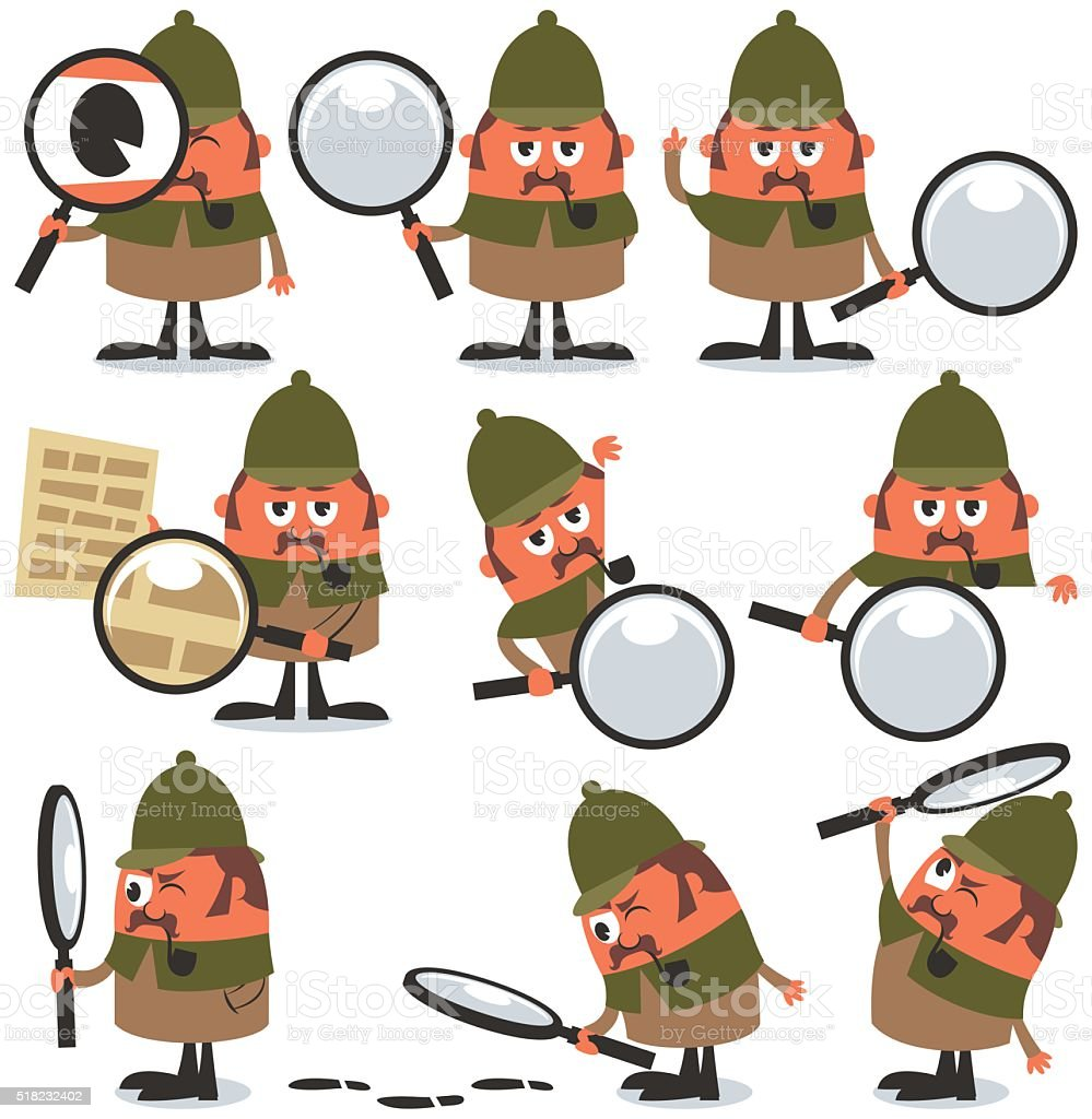 Detective Pack vector art illustration
