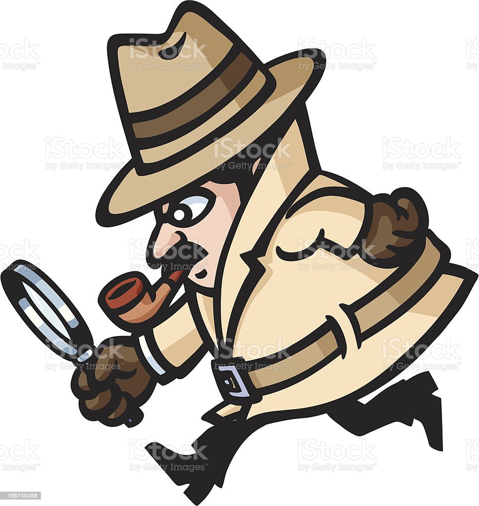 Detective's Running vector art illustration