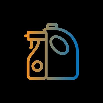 Detergant Line Icon, Outline Vector Symbol