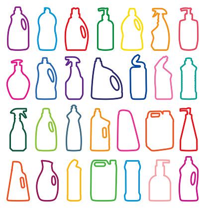 detergent bottle silhouettes