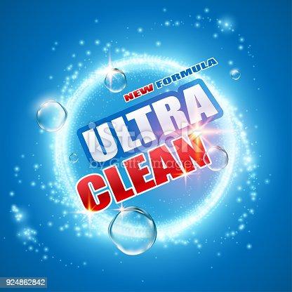 Detergent design template in vector