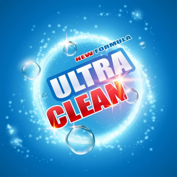 detergent design template - disinfectant stock illustrations